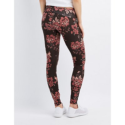 Floral High-Waisted Leggings