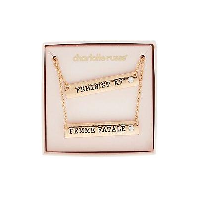 Friendship Pendant Necklaces - 2 Pack