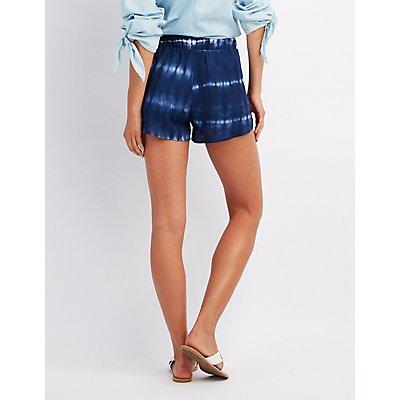 Tie Dye Tulip Shorts