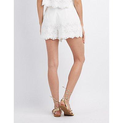 Floral Eyelet Shorts