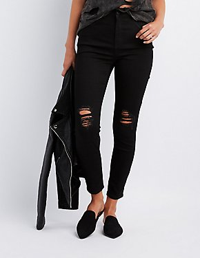 Refuge Hi-Rise Destroyed Skinny Jeans