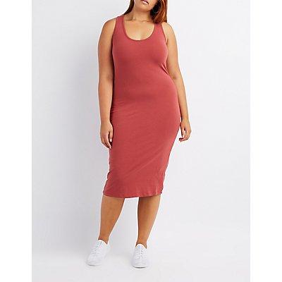 Plus Size Racerback Bodycon Dress