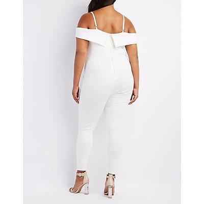 Plus Size Cold Shoulder Jumpsuit
