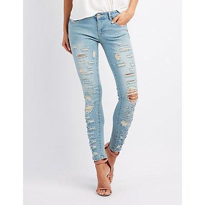Destroyed Denim Skinny Jeans