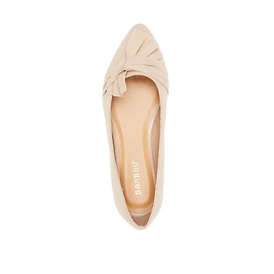 Bamboo Bow Pointed Toe Flats