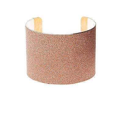 Plus Size Glitter Cuff Bracelet