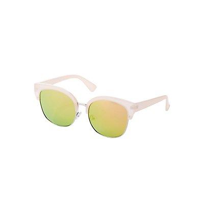 Retro Metal-Trim Sunglasses
