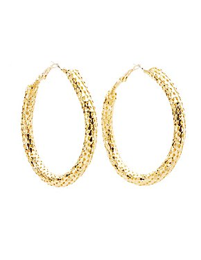 Chainmail Hoop Earrings