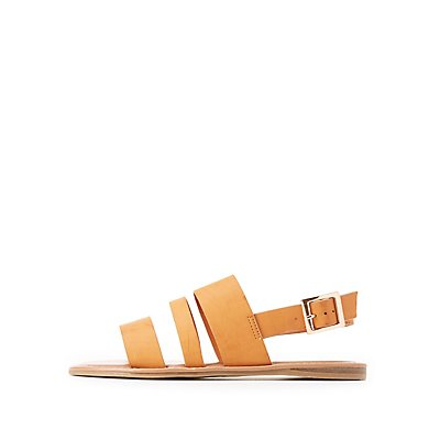 Bamboo Three-Band Slingback Sandals