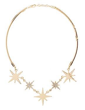 Embellished Star Choker Necklace
