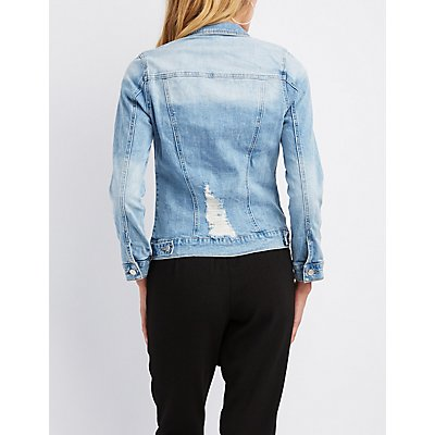 Refuge Patch Denim Destroyed Jacket