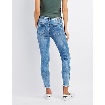 Machine Jeans Marble Destroyed Skinny Jeans