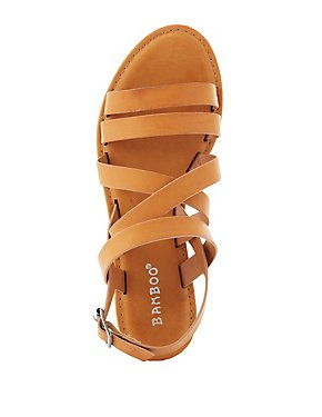 Bamboo Strappy Slingback Sandals