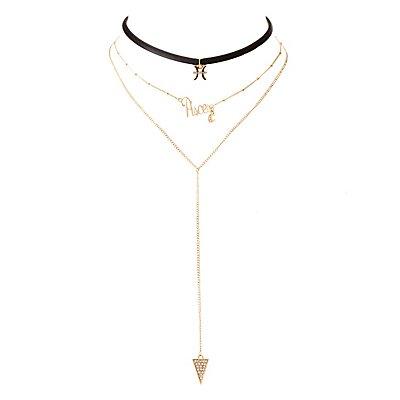 Pisces Lariat & Choker Necklaces - 2 Pack