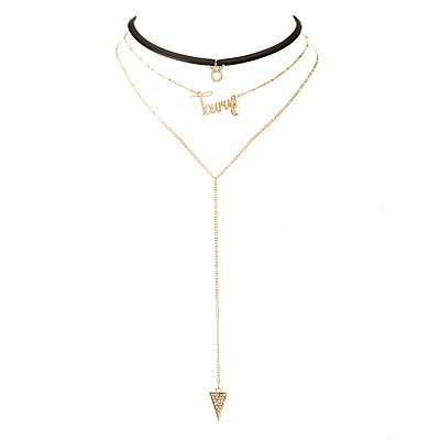 Taurus Lariat & Choker Necklace - 2 Pack