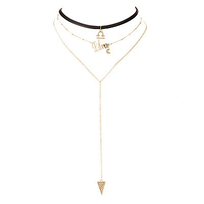 Libra Lariat & Choker Necklaces - 2 Pack