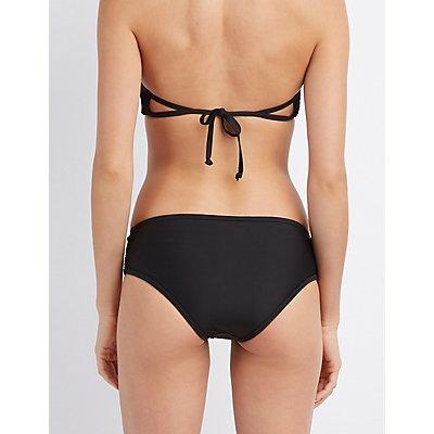 Mesh-Trim Bikini Bottoms