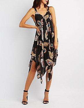 Paisley Handkerchief Maxi Dress
