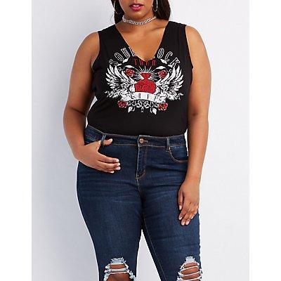 Plus Size Soul, Rock, Love Graphic Bodysuit
