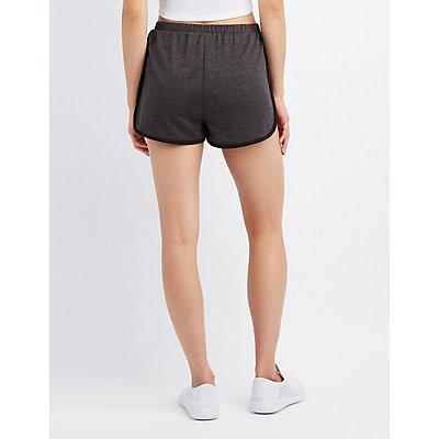 Lace-Up Drawstring Shorts