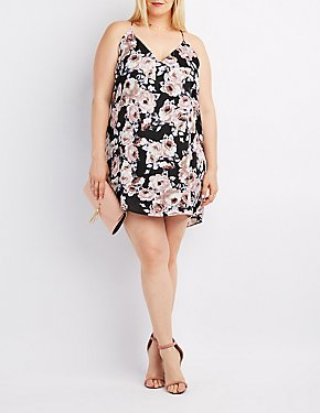 Plus Size Floral Racerback Shift Dress