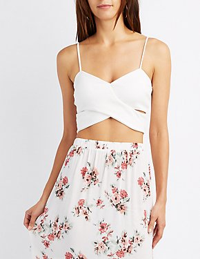 Wrap-Front Crop Top