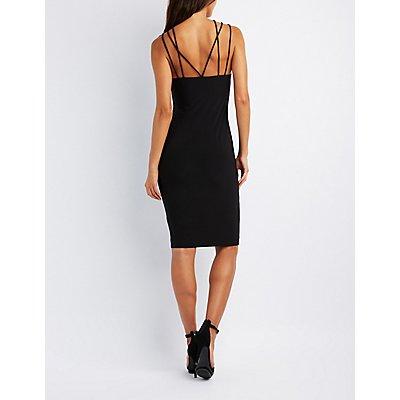 Strappy Lattice Bodycon Dress