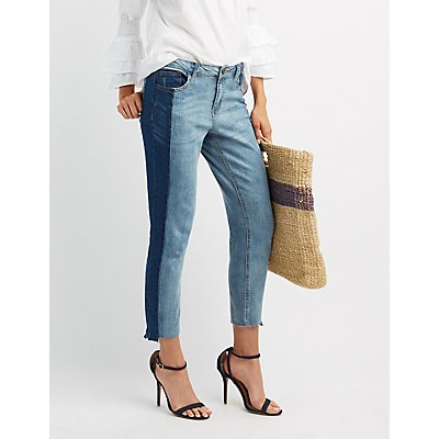 Refuge Colorblock Straight Leg Jeans