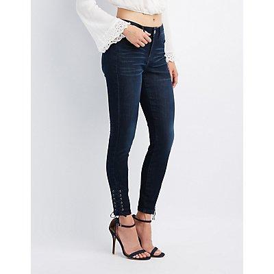 Refuge Skinny Lace-Up Jeans