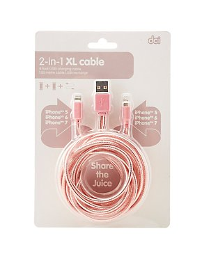 2-in-1 XL iPhone Charger Cable
