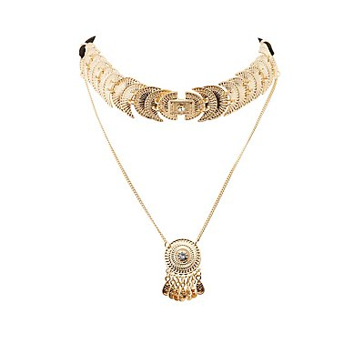 Embellished Layered Choker Necklace