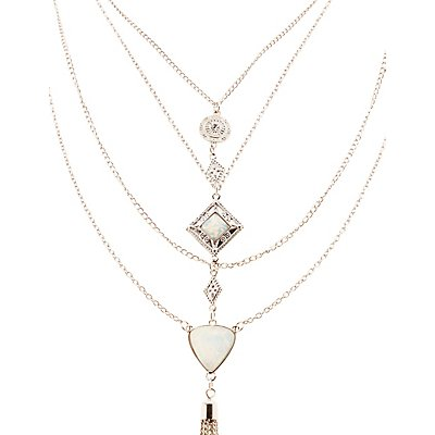 Multistrand Tassel Pendant Necklace