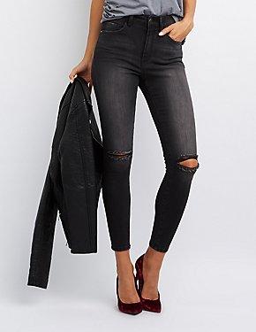 Refuge High-Rise Destroyed Skinny Jeans