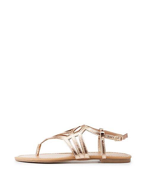 358088fc5 Laser Cut T-Strap Sandals