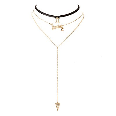 Gemini Lariat & Choker Necklaces - 2 Pack
