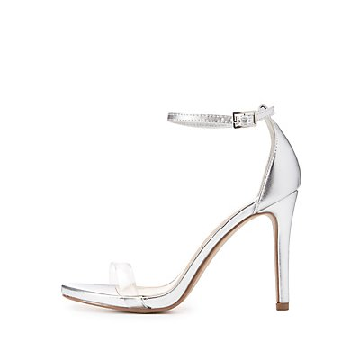Clear Strap Two-Piece Sandals