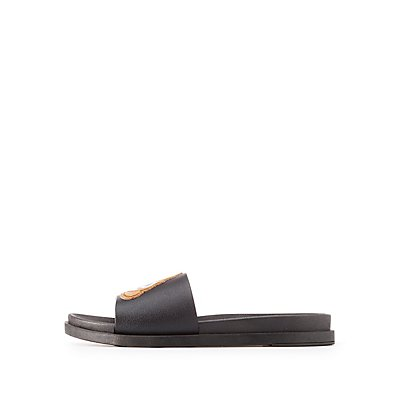 Patch Slide Sandals