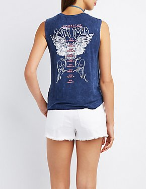 American Rock Tour Graphic Muscle Tee