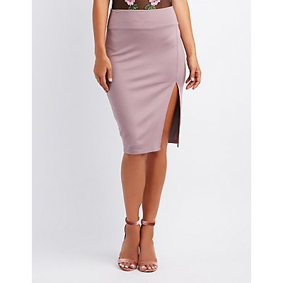 Slide Slit Bodycon Skirt