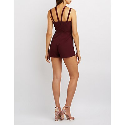 Strappy Caged Romper