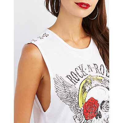 Skull Graphic Tank Top