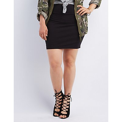 Plus Size Bodycon Mini Skirt