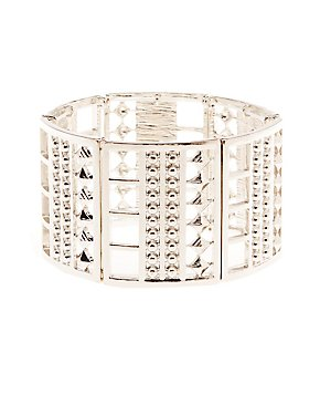Metal Stretch Cuff Bracelet