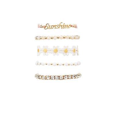 Sunshine Layering Bracelets - 5 Pack