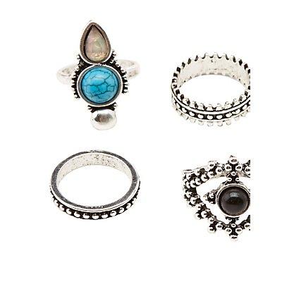 Embellished Stacking Rings - 6 Packs
