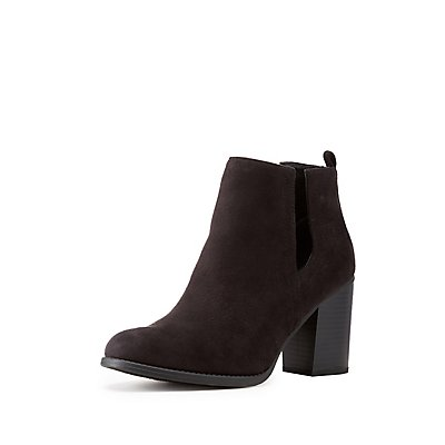 Side-Slit Ankle Booties