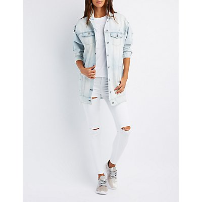 Oversize Destroyed Denim Jacket