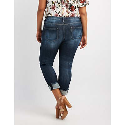 Cello Plus Size Cropped Skinny Jeans