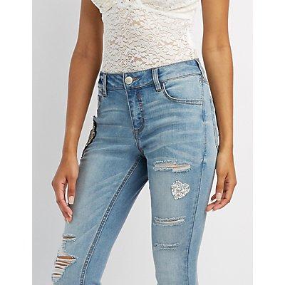 Refuge Embellished Skinny Boyfriend Jeans