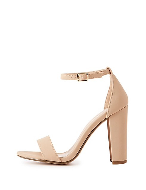 becca ankle strap heeled sandals charlotte russe